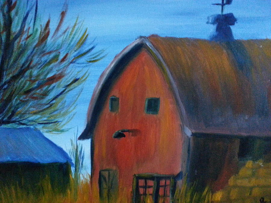 Landscape Painting - Last Of The Old Farms  by Steve Jorde