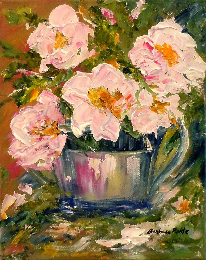 Roses Painting - Last Of The Roses by Barbara Pirkle