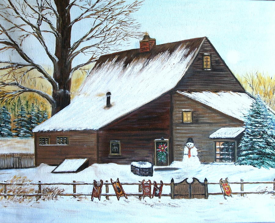 Landscape Painting - Last of Winter by Kenneth LePoidevin