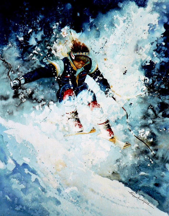 Sports Art Painting - Last Run by Hanne Lore Koehler