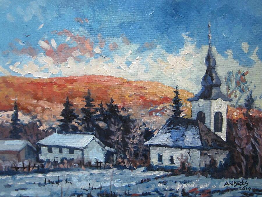Last Snow Painting by Andrei Attila Mezei