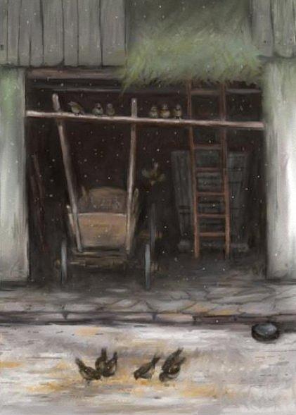 Landscape Painting - Last Snowflakes by Tancau Emanuel