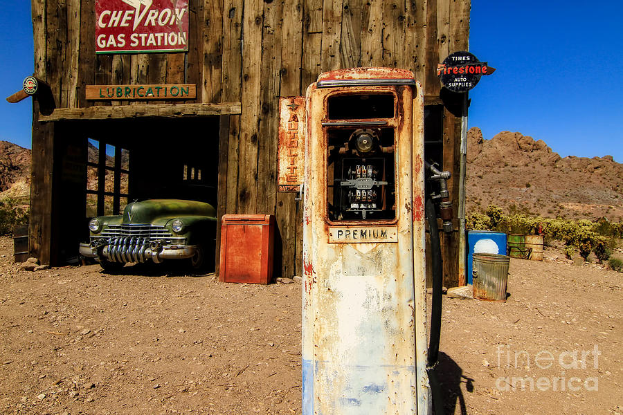 Red Rock Canyon Photograph - Last Stop for Gas by Brenda Giasson