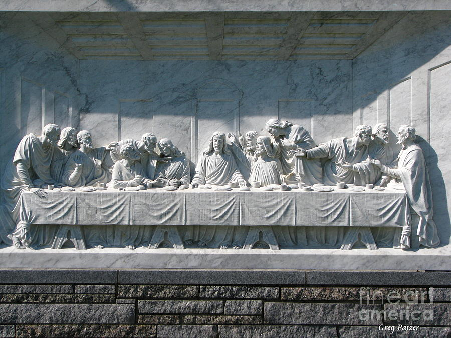 Jesus Photograph - Last Supper by Greg Patzer