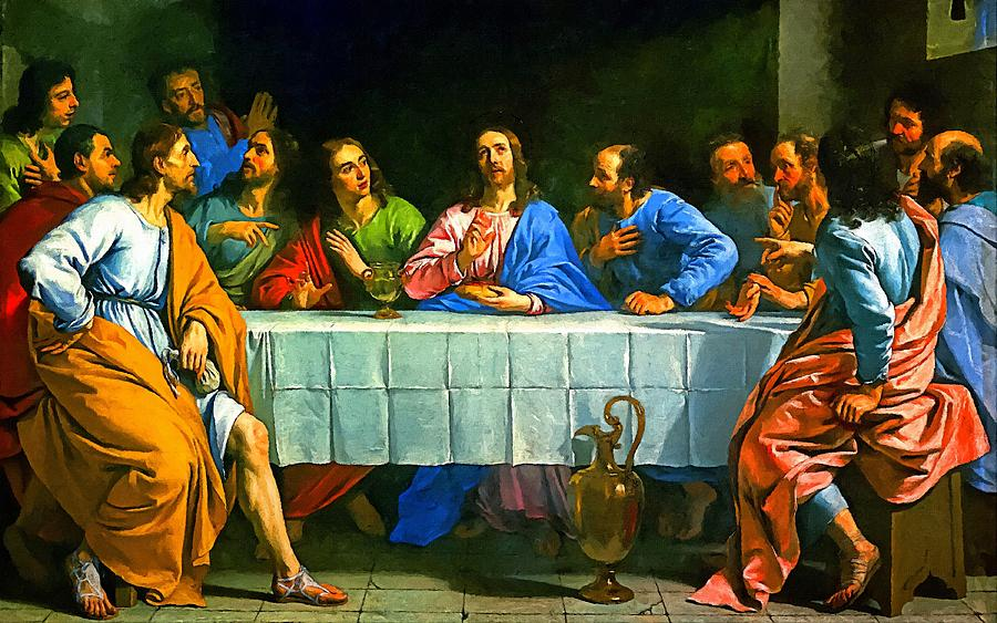 Last Supper Religion Art Painting Painting By Andres Ramos