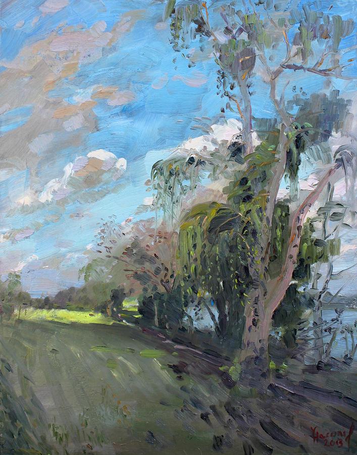 Niagara River Painting - Late Afternoon By Niagara River by Ylli Haruni