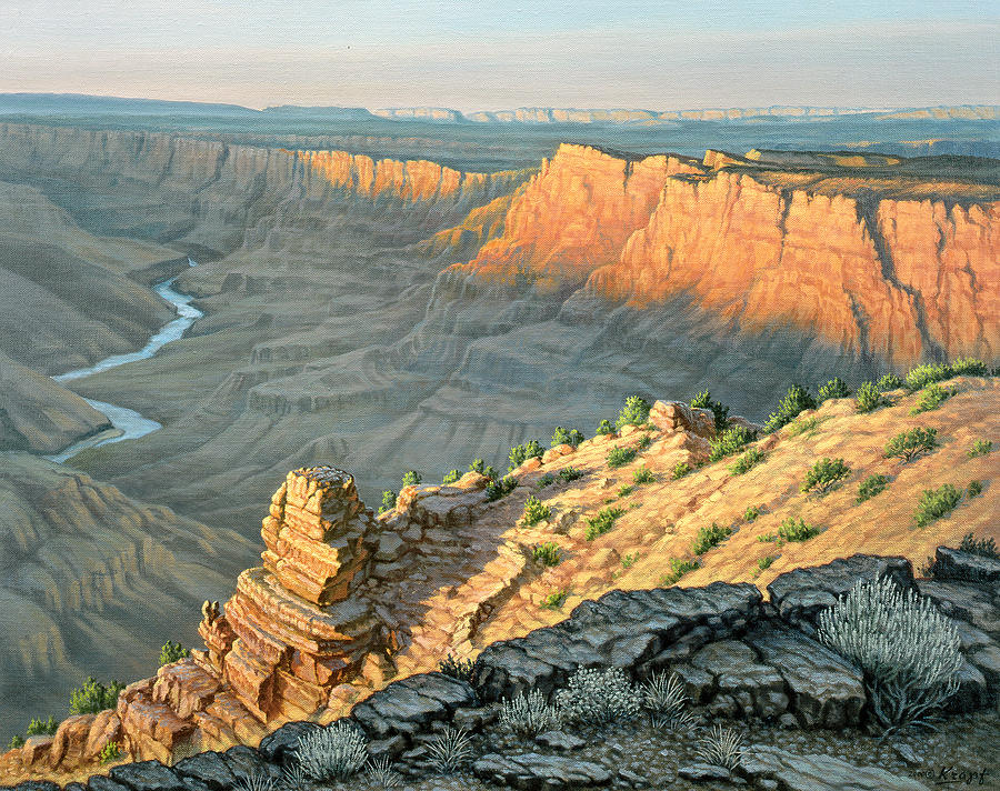 Landscape Painting - Late Afternoon-desert View by Paul Krapf