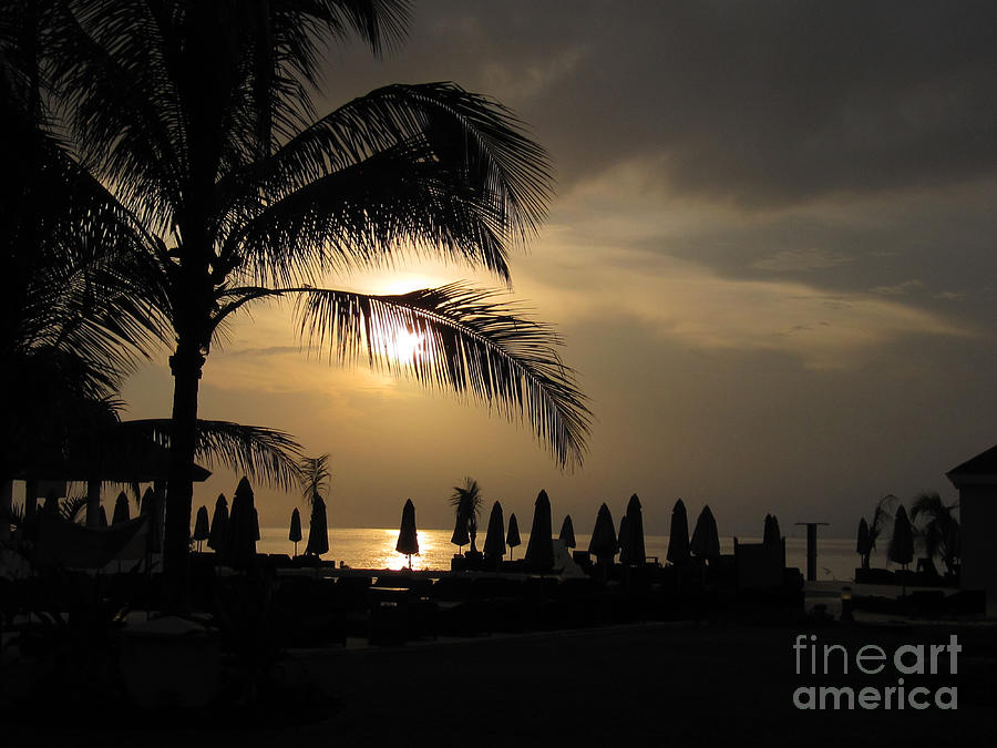 Montego Bay Photograph - Late Afternoon In Mobay by Addie Hocynec