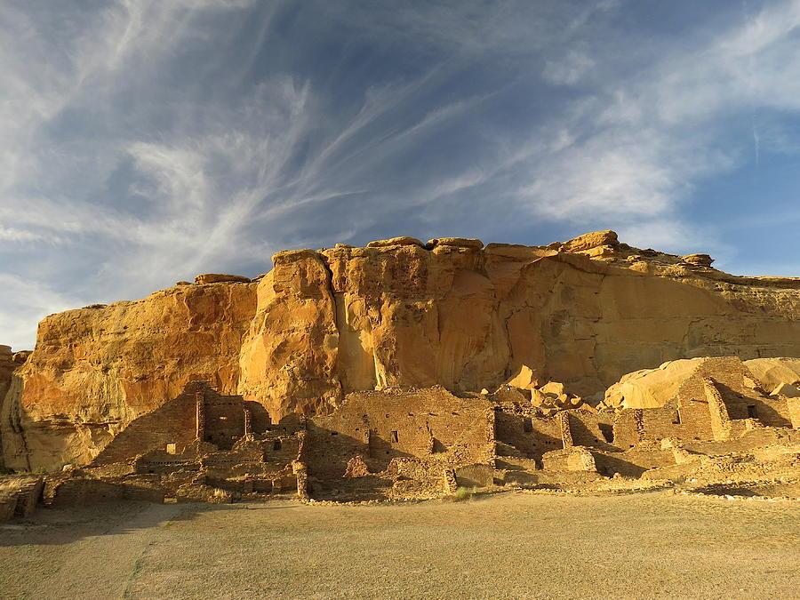 Chaco Photograph - Late Afternoon In Pueblo Bonito by Feva  Fotos