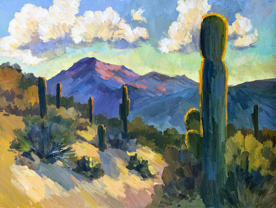 Late Afternoon Painting - Late Afternoon Tucson by Diane McClary