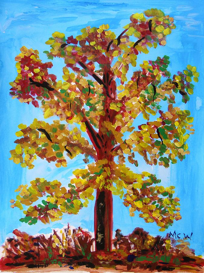 Late Autumn Painting - Late Autumn Survivor by Mary Carol Williams