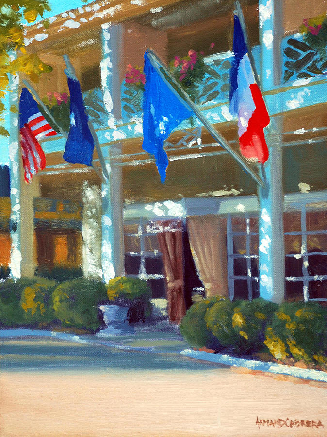 The Inn At Little Washington Painting - Late Day Shadows by Armand Cabrera
