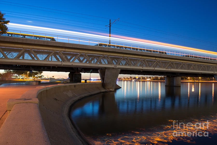 Light Rail Photograph - Late For The Train by Patty Descalzi