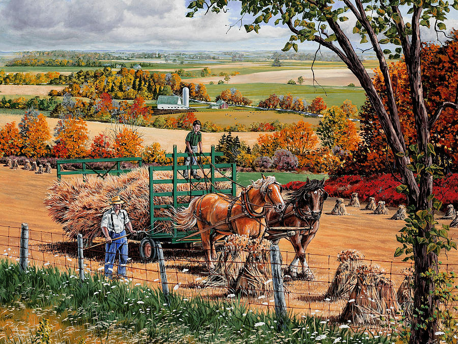 Harvest Painting - Late Harvest by Roger Witmer