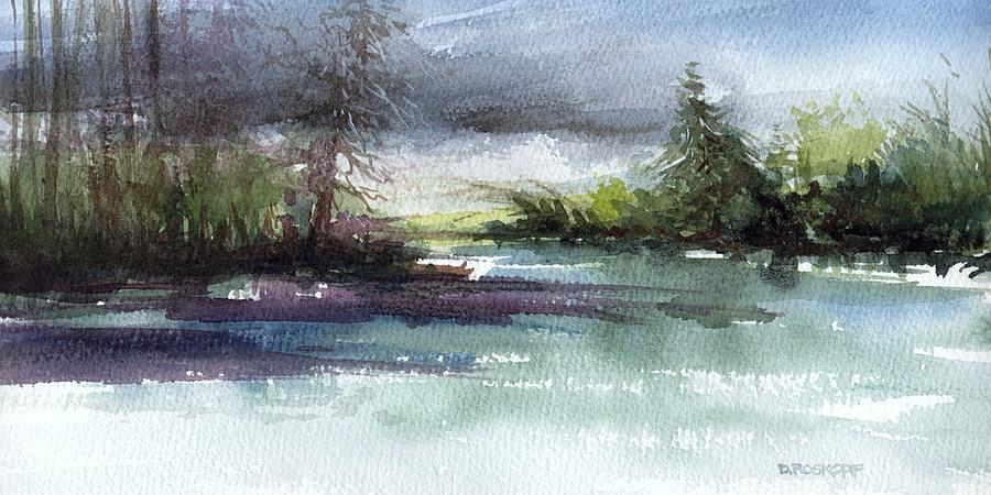 Late Lake Painting by Deborah Roskopf