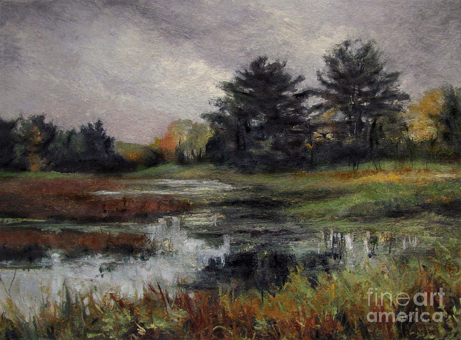November Painting - Late November Storm by Gregory Arnett