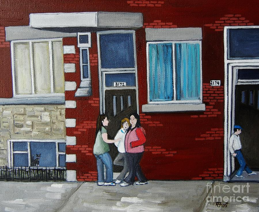 City Scenes Painting - Late Saturday Afternoon by Reb Frost