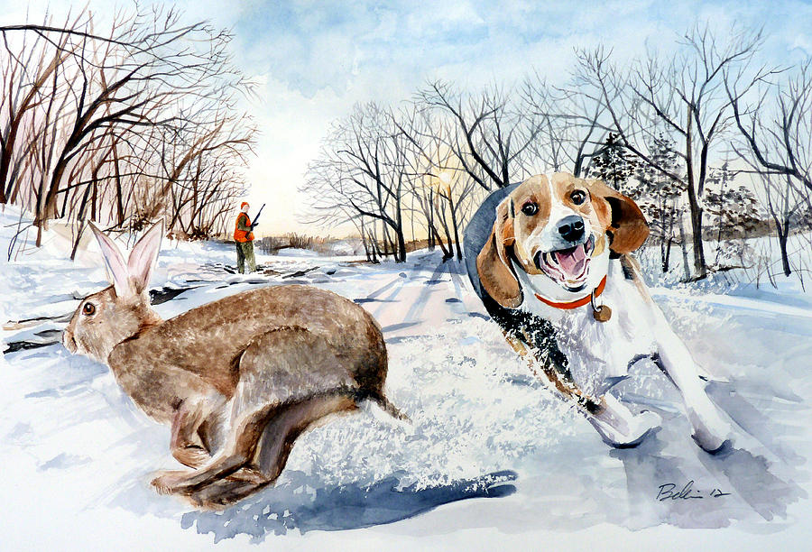 Late Season Rabbit 2 Painting By Dana Bellis