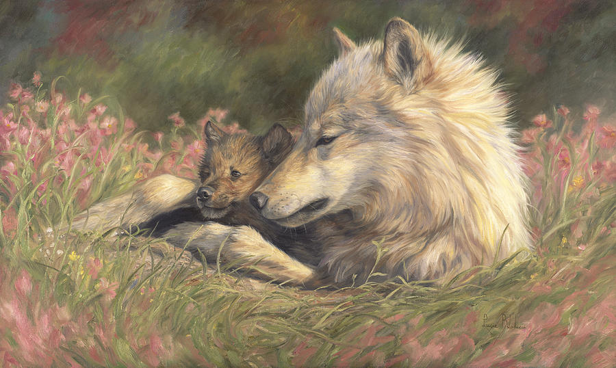 Wolf Painting - Late Spring by Lucie Bilodeau