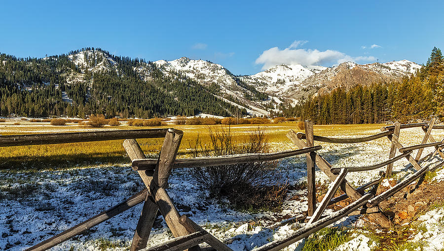 Mountains Photograph - Late Spring Snow At Squaw by Nancy Marie Ricketts