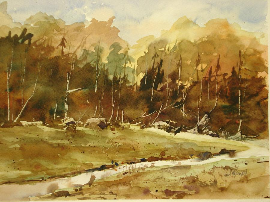 Stream Painting - Late Thaw by John McDonald
