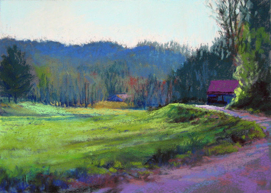 Landscape Painting - Late Valley Light by Marsha Savage
