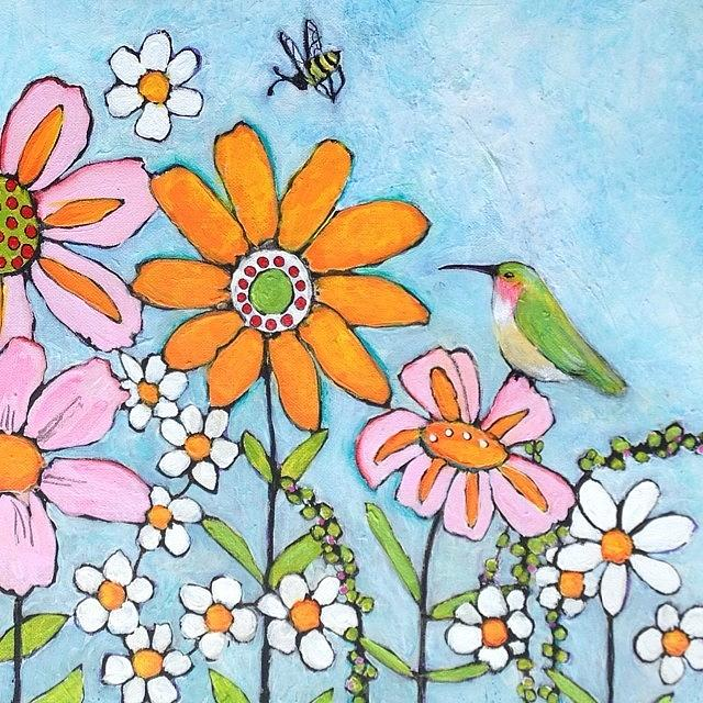 Flowers Photograph - Latest Painting Inspired By The by Blenda Studio
