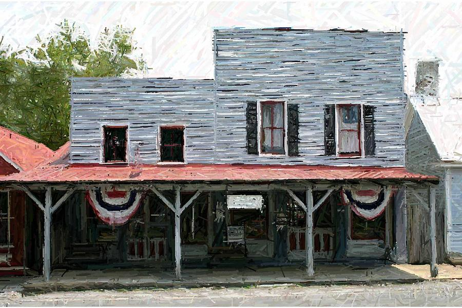Merchants' Row Photograph - Latimores Store - Perryville Ky by Thia Stover