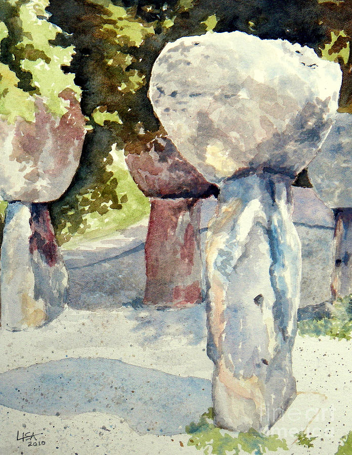Landscape Painting - Latte Stone by Lisa Pope