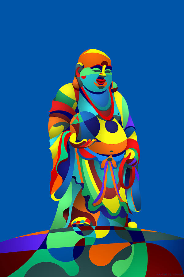 Laughing Buddha Blue by Randall Henrie