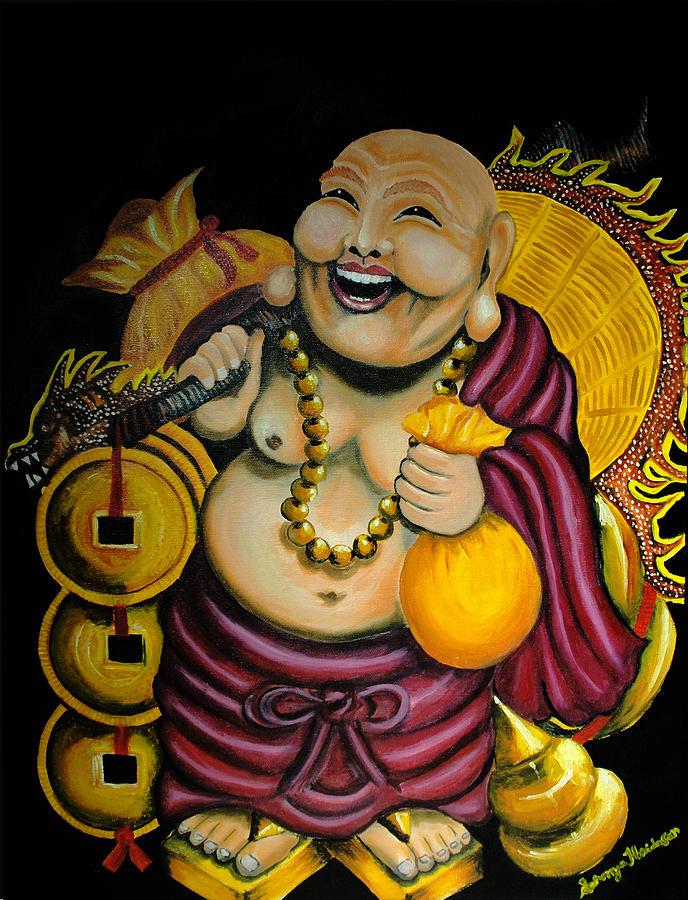 Laughing Buddha Painting - Laughing Buddha For Prosperity by Saranya Haridasan