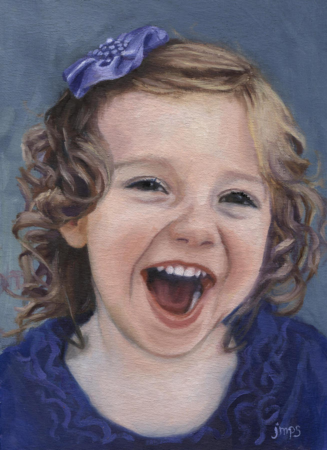 Laugh Painting - Laughter #15 by Jean  Smith