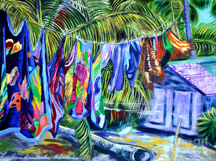 Laundry Day At Pepes Caye Caulker Belize Photograph By Lee