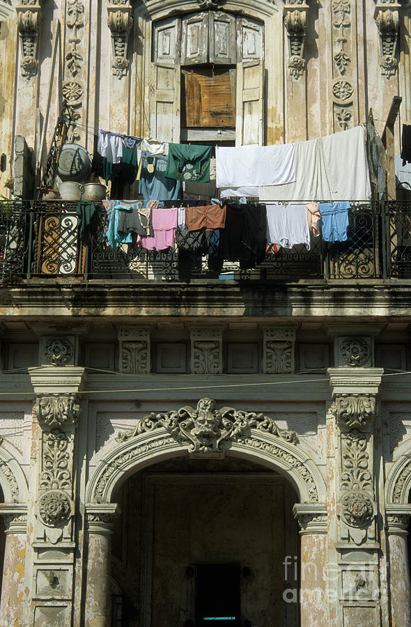 Cuba Photograph - Laundry Day by James Brunker