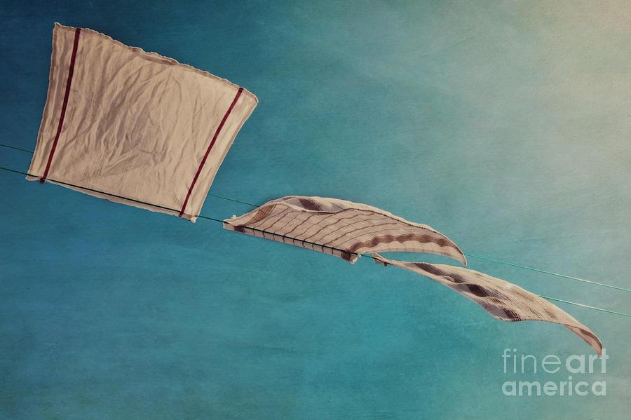 Breeze Photograph - Laundry Day by Priska Wettstein