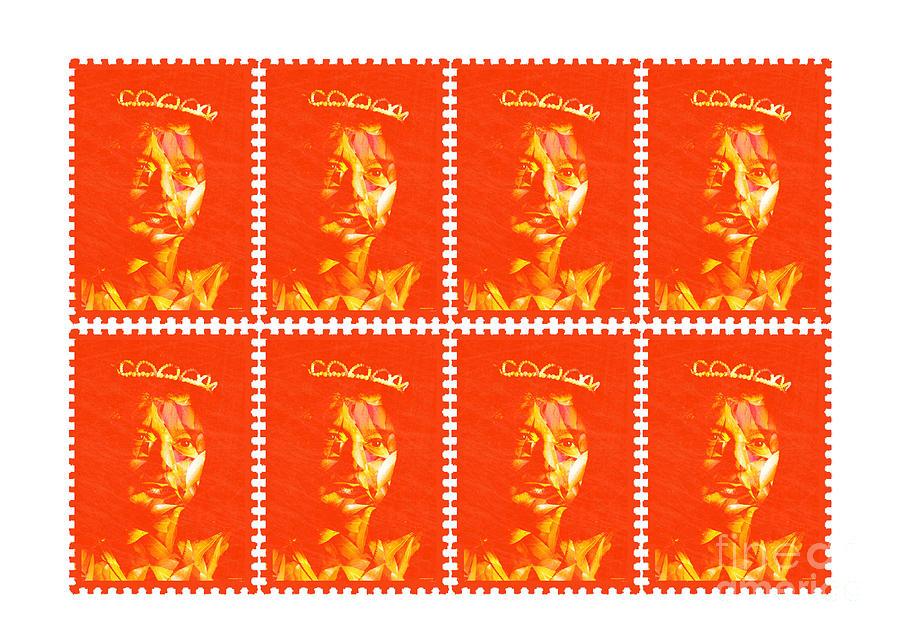 Girl Photograph - Stamps by Dominique De Leeuw