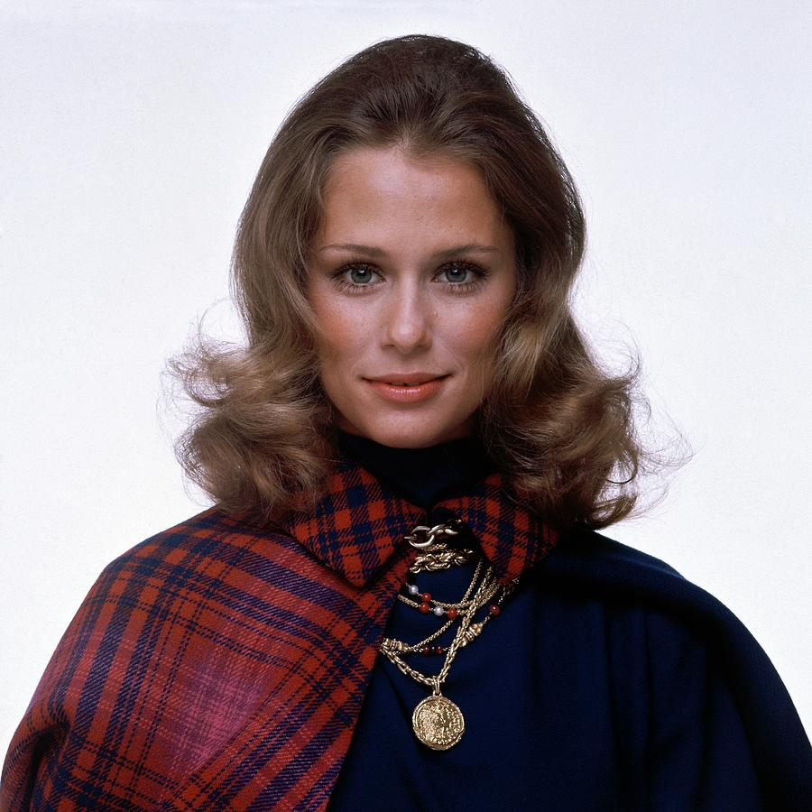 Laura Hutton Wearing Van Cleef & Arpel Necklaces Photograph by Gianni Penati