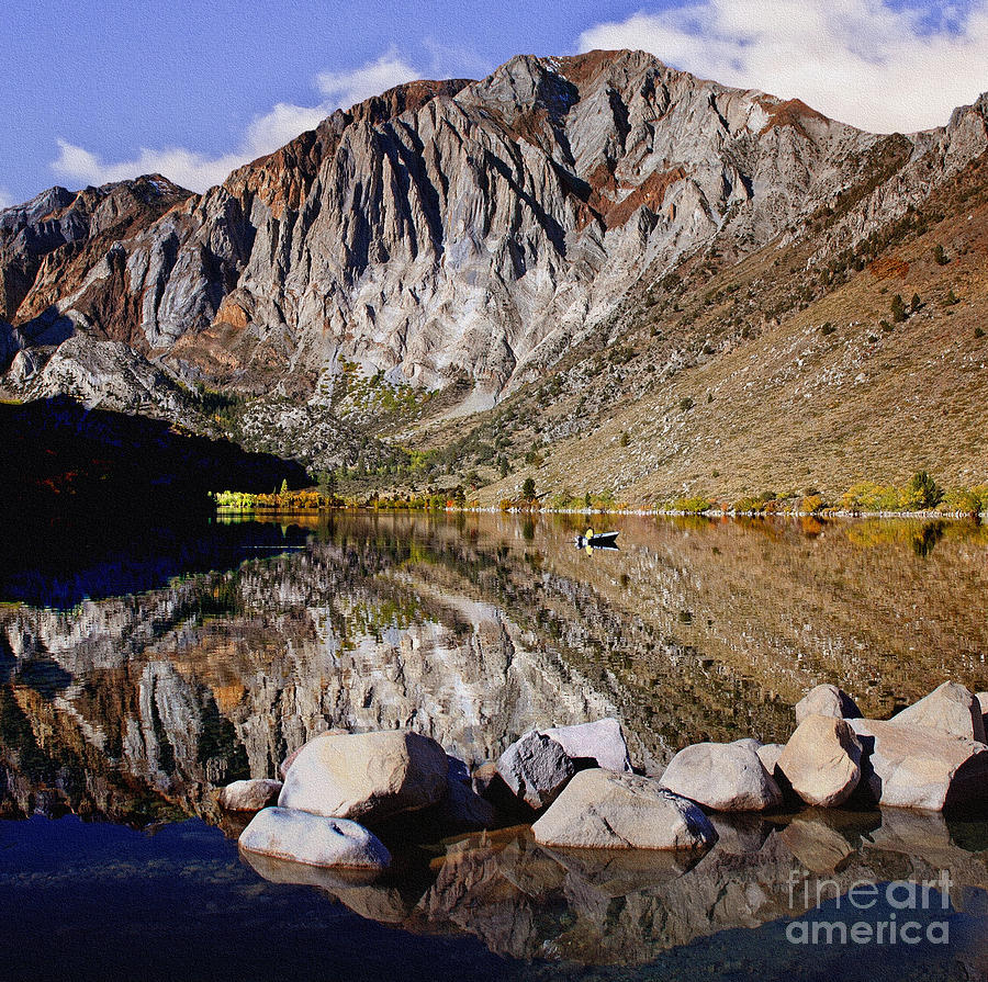 Laural Photograph - Laural Mountain Convict Lake California by Bob and Nadine Johnston
