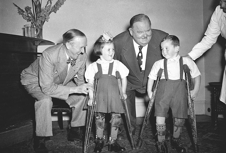 Laurel And Hardy Photograph - Laurel And Hardy In Ireland by Irish Photo Archive