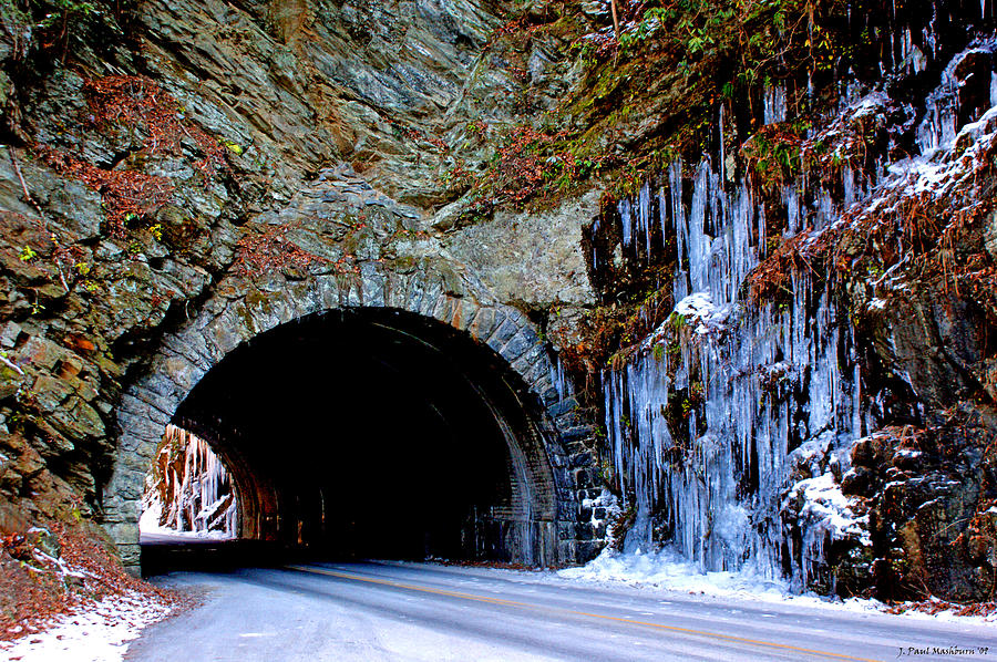 Cades Cove Photograph - Laurel Creek Road Tunnel by Paul Mashburn