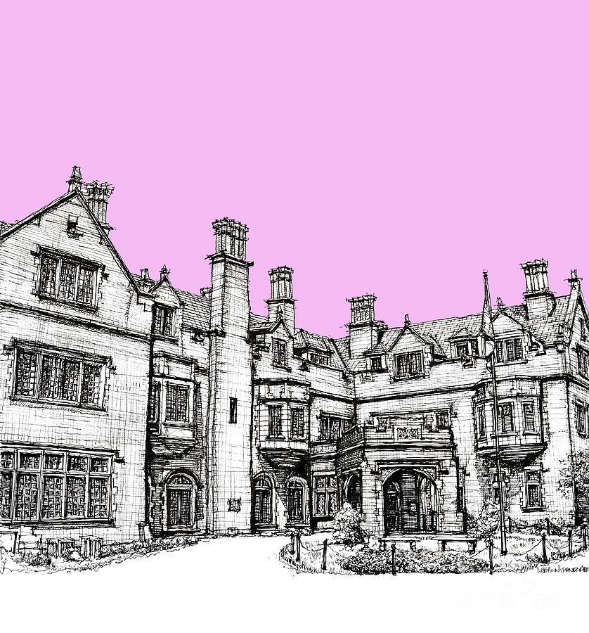 Pink Drawing - Laurel Hall In Pink  by Adendorff Design