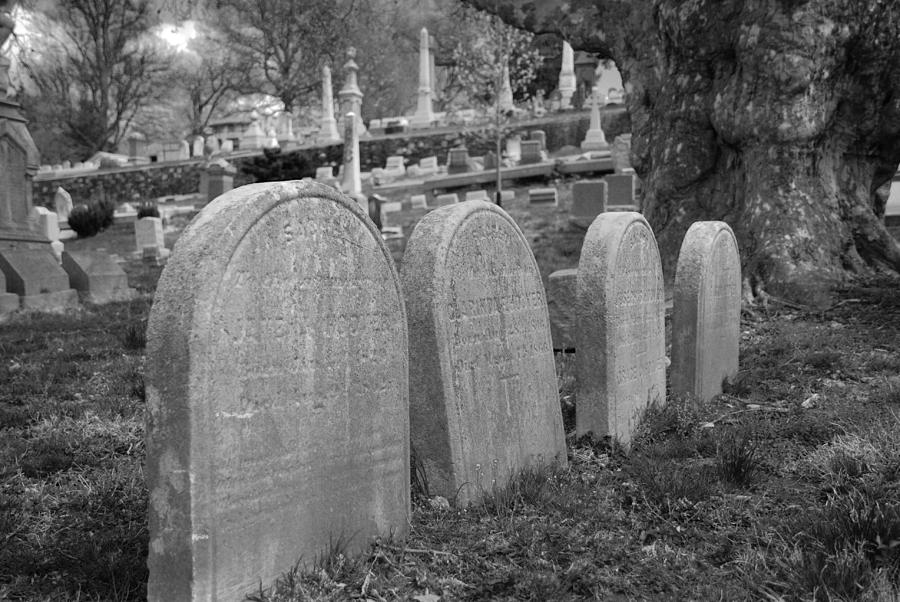 Cemetery Photograph - Laurel Hill Headstones by Jennifer Ancker