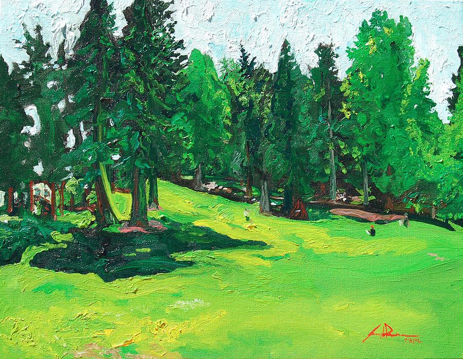 Laurelhurst Painting - Laurelhurst Park by Joseph Demaree