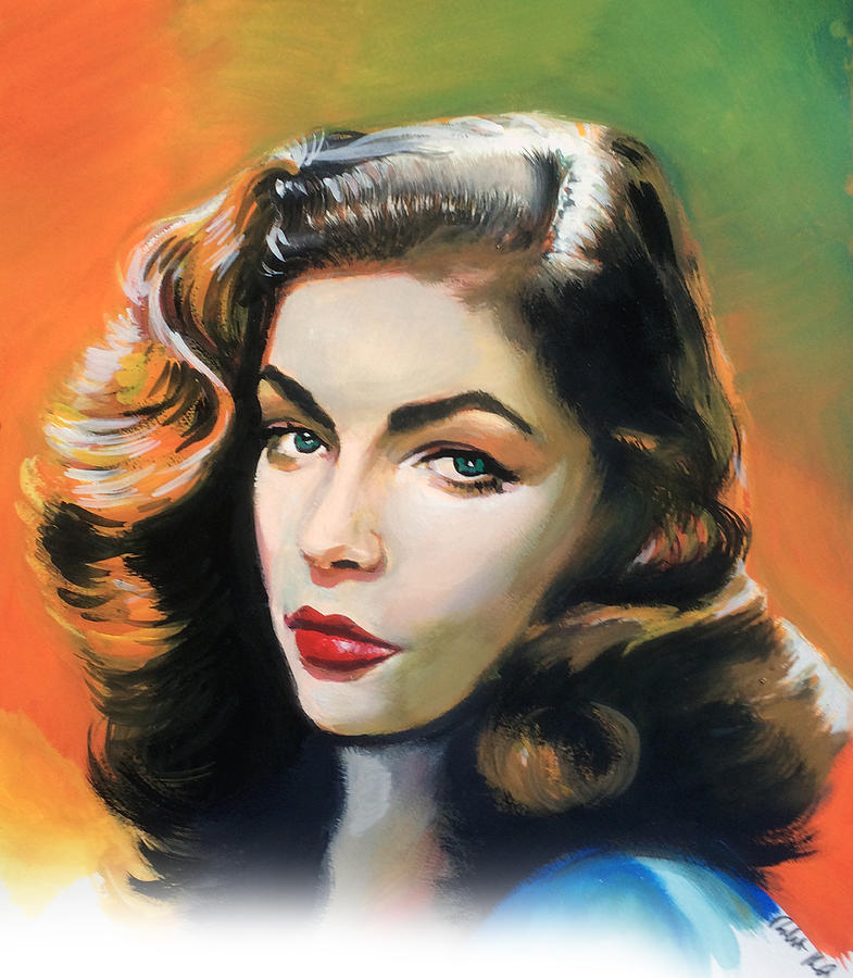 Lauren Bacall Painting by Robert Korhonen