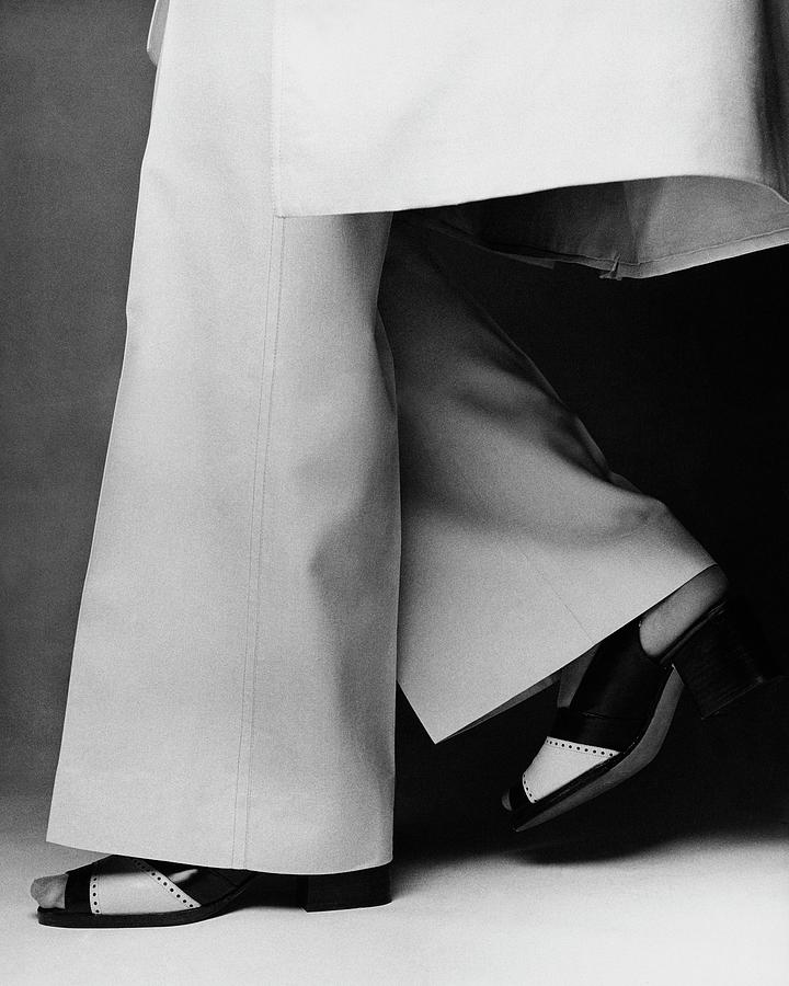 Lauren Huttons Legs Wearing Calvin Klein Pants Photograph by Francesco Scavullo