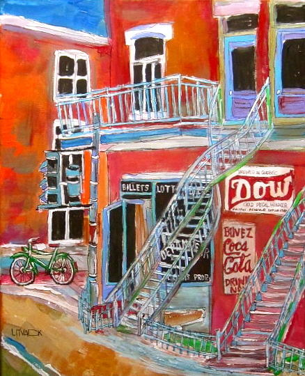 Laurier Avenue Painting - Laurier Balconies by Michael Litvack