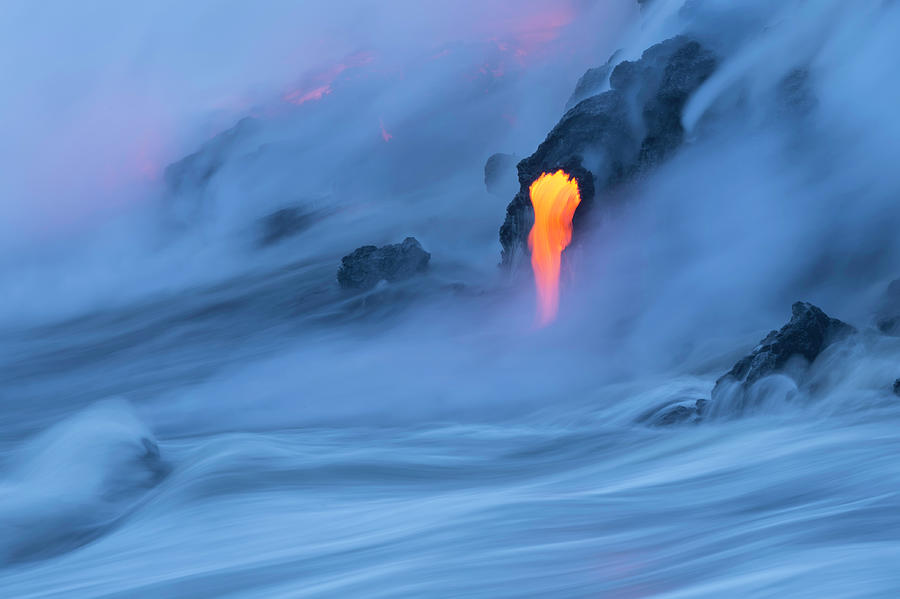 Lava Ocean Entry Photograph by Justinreznick