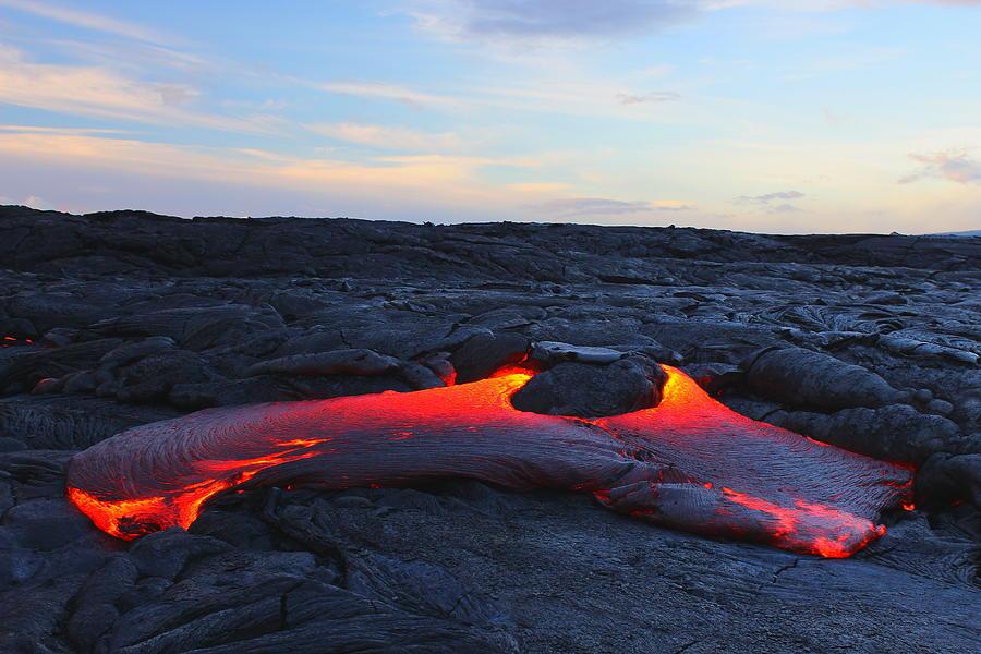 Lava Photograph - Lava plains by Kawika Singson
