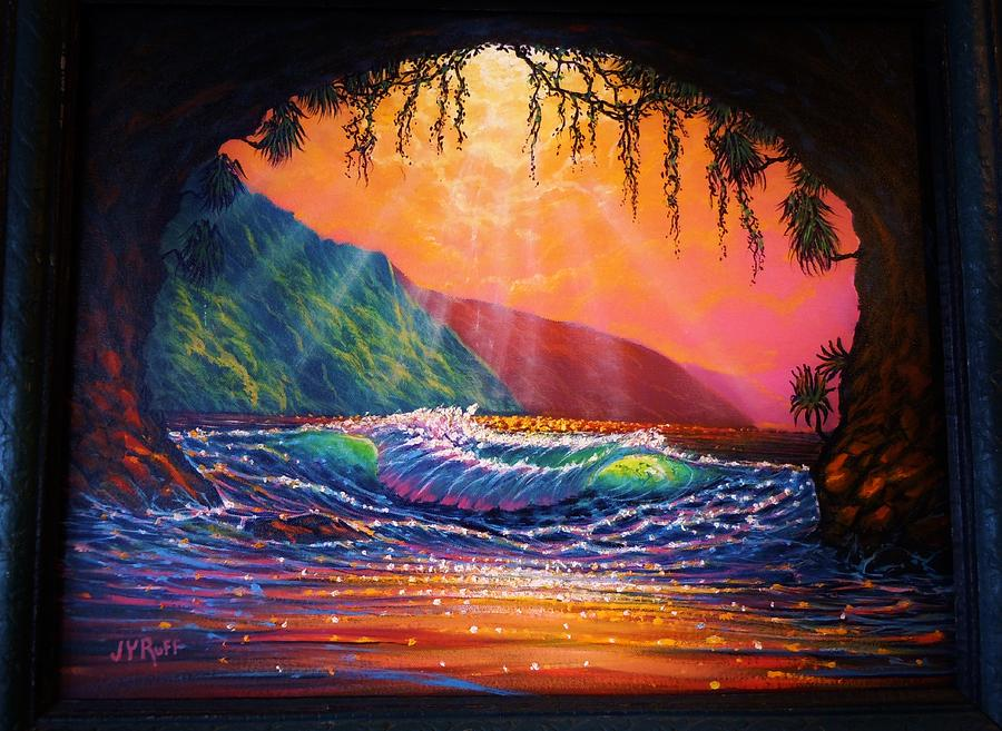 Lava Tube Fantasy 1 Painting by Joseph   Ruff