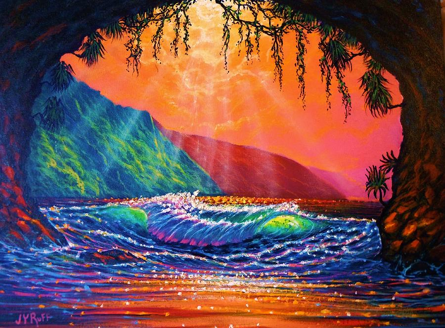 Pp 16x20 0487-6 Painting - Lava Tube Fantasy by Joseph   Ruff